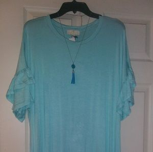 Aqua blue dress. Size XXL